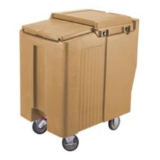 Cambro ICS125T157 Coffee Beige Tall 125 lb. Ice Caddy