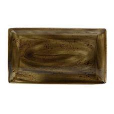 """Steelite 11320556 Craft Brown 7.5 x 12.5"""" Rect Platter - 6 / CS"""