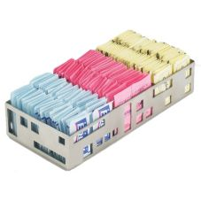 Cal-Mil 1611-55 S/S Squared Packet Organizer