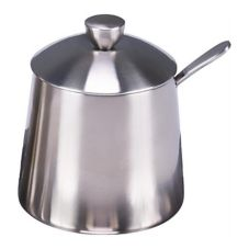 Frieling 0146 Brushed Finish 9 Oz. Sugar Bowl with Spoon