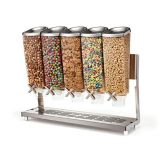 Rosseto EZP2883 5 Container Salad Topping Dispenser with Tray / Stand