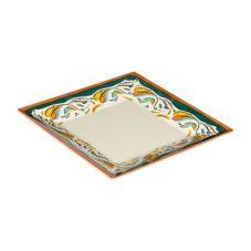 "G.E.T. ML-104-BF Bella Fresco™ 10"" Square Plate - 12 / CS"