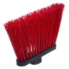 "Carlisle 3686805 Duo-Sweep 8"" Red Heavy Duty Angle Broom Head"