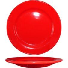 "International Tableware CA-9-CR Cancun Red 9-3/4"" Plate - 24 / CS"