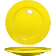 "International Tableware CA-9-Y Yellow 9-3/4"" Plate - 24 / CS"