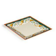 "G.E.T. ML-90-BF Bella Fresco™ 12"" Square Plate - 6 / CS"