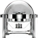 Steelite 5370S471 WNK 5 Qt. S/S Round Roll Top Chafing Dish
