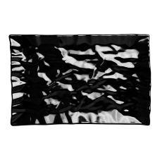 "Elite Global M11181-B Crinkled Paper 18"" x 11.5"" Black Tray"