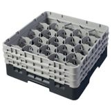 Cambro 20S638110 Black 20 Compartment Glass Rack with 3 Extenders