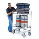Lakeside 8840 S/S Frame Utility Cart with Push Handles