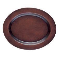 "Browne Foodservice 573706 Oval 10"" Wood Underliner - 6 / CS"