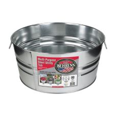 Behrens 2GS Galvanized Steel 15 Gallon Round Tub