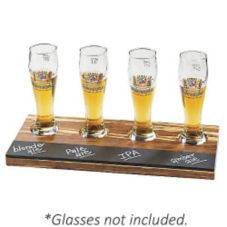 Cal-Mil 2064 Crushed Bamboo Write-On Beer Sampler Tray
