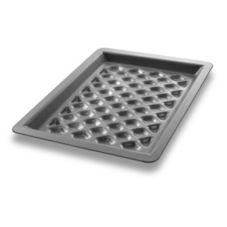 "Chicago Metallic Bakeware 70821 16 GA Aluminum 8.33"" x 11.5"" Grill Pan"