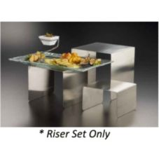 American Metalcraft RSS3 Satin Finish S/S Set of 3 Risers