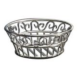 "American Metalcraft SSLB94 S/S Scroll Round 9"" Bread Basket"