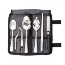 Mercer Cutlery M35149 Seven Piece Food Plating Tools Set with Case