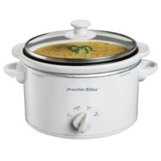 ProctorSilex® 33116Y White 1.5 Qt. Portable Slow Cooker