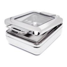 Eastern Tabletop 3974G Jazz 4 Qt. Induction Chafer with Glass Lid