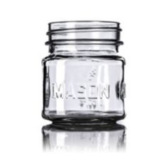 Container & Packaging Supply G265 Clear Glass 8 Oz Mason Jar - 12 / CS