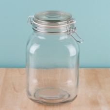Anchor Hocking 98785 Heremes 67 Oz. Glass Jar with Clamp Lid - 4 / CS