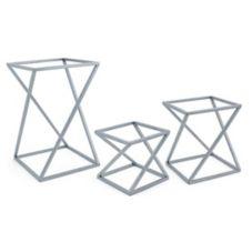 FOH® BRI005BC128 Set of 3 Square Metal Twist Risers