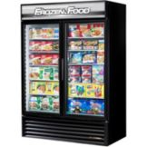True Food Service GDM-49F-LD BLACK INTERIOR Hinged Two Door Freezer