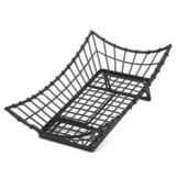 TableCraft GMT2113 Black 21 x 13 Rectangular Transformer Metal Basket