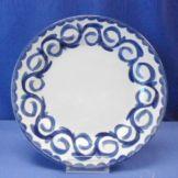 "Steelite B744P102 Puebla 9"" Blue Rim Plate - 24 / CS"