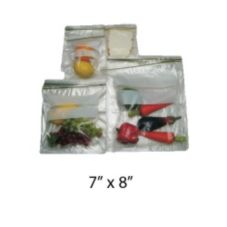 "Saneck 732148 7"" x 8"" Zipper Closure Quart Bag - 500 / BX"