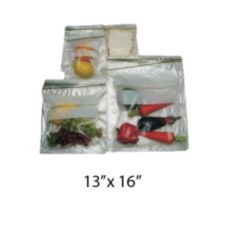 "Saneck 732158 13"" x 16"" Zipper Closure 2 Gallon Bag - 100 / BX"