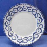 "Steelite B755P105 Puebla Blue Rim 13"" Chop Plate - 12 / CS"