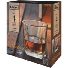 Libbey® 5481S4 4 Piece Perfect Rye 9 Oz. Glass Set