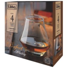 Libbey® 56614 4 Piece Perfect Whiskey 9.8 Oz. Glass Set