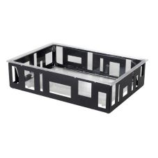 Rosseto® SM114 Extra-Large Black Matte Ice Tub with Acrylic Insert