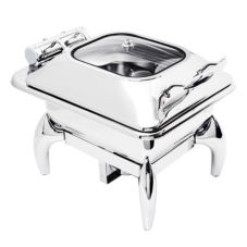 Eastern Tabletop 3964G Stainless Steel 4 Qt. Square Induction Chafer