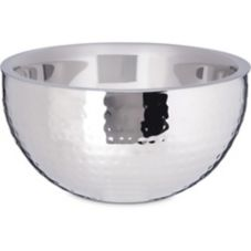 """Carlisle® 609202 Hammered S/S Double Walled 10"""" Angled Bowl"""