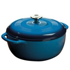 Lodge® EC6D33 6 Qt. Enamel Cast Iron Caribbean Blue Dutch Oven