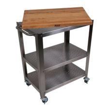 """John Boos CU-CULART30 Cucina Culinarte 35"""" Kitchen Cart"""