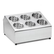 """TableCraft 7062 S/S 15"""" x 12-1/4"""" Flatware Cylinder Holder"""
