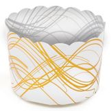 Welcome Home Brands CK04 Gold Wave Plastic Baking Cup - 500 / CS