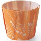 Welcome Home Brands MC82 Orange 2.2 Oz Pleated Baking Cup - 500 / CS