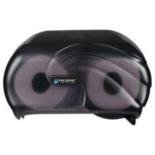 San Jamar R3690TBK Versatwin® Oceans Black Toilet Tissue Dispenser