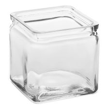 American Metalcraft GJ24 Square Glass 24 Oz. Jar