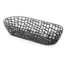 TableCraft BC1815 Complexity Collection 15 x 6-1/4 Black Oblong Basket