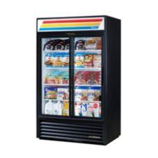 True® GDM-41-LD Black Exterior Refrigerated Merchandiser