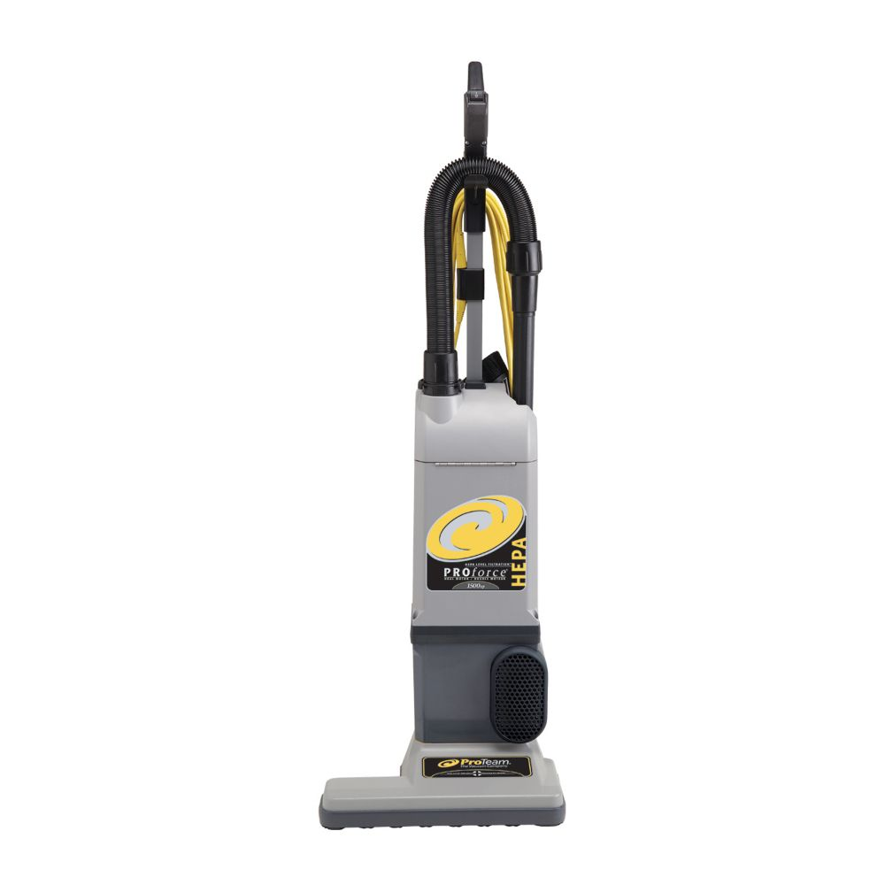 PROTEAM PROFORCE 1500XP HEPA UPRIGHT VACUUM W// ON BOARD TOOLS