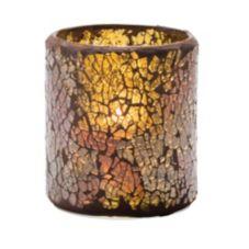 Hollowick® 6301G Crackle™ Gold Glass Votive Lamp