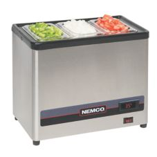 NEMCO 9020 NSF 120V Countertop 3 Compartment Cold Condiment Chiller