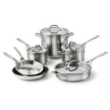 Calphalon 1833876 AccuCore 10 Piece Stainless Steel Cookware Set